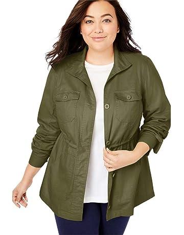 81e2c4d7d70 Woman Within Women s Plus Size Sport Twill Utility Jacket