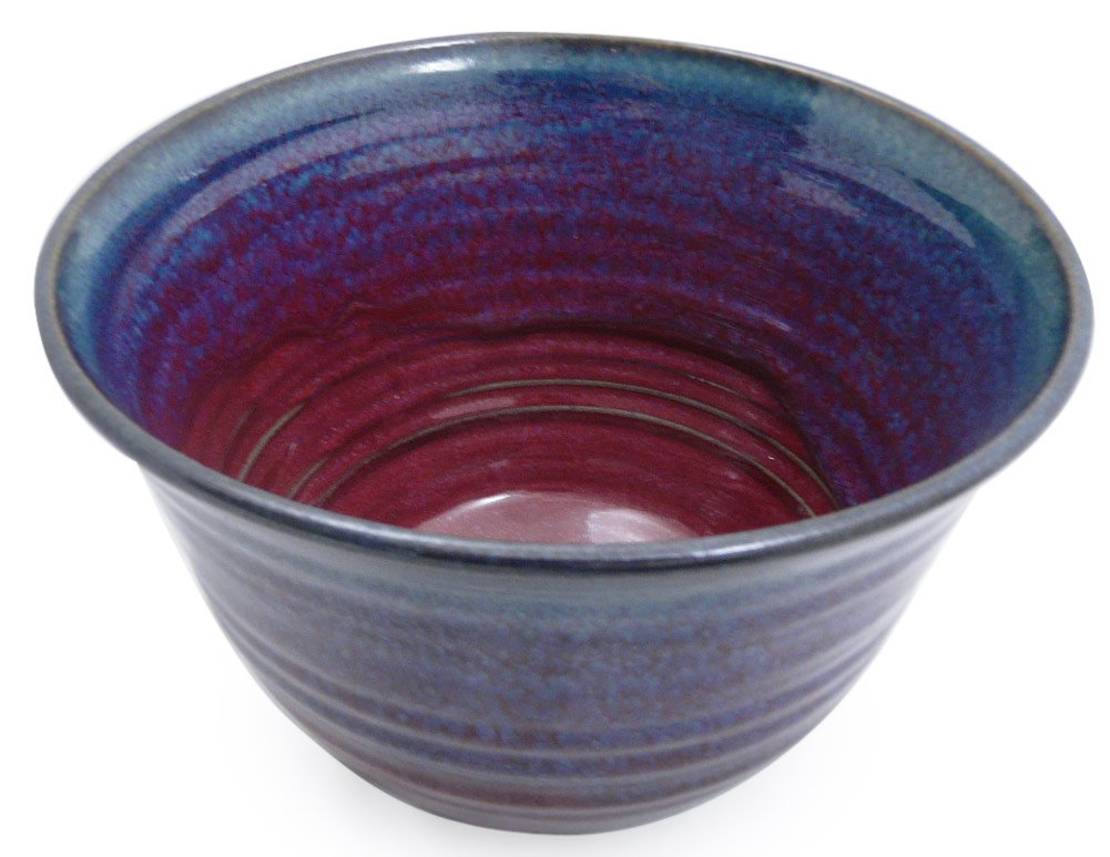 Plum Perfect 3-Piece Large Nesting Mixing Bowl Set, American Made Stoneware Pottery by Modern Artisans (Image #6)