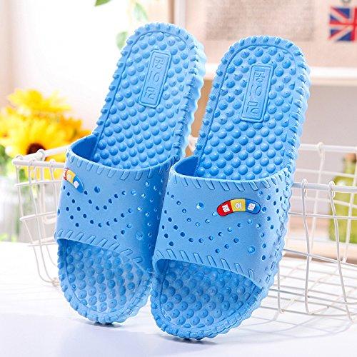 per Fankou estate bagno fresco e coppie estate plastica 39 uomini nbsp;Il massaggio stare antiscivolo è donne blu pantofole pantofole cielo in bagno home in SSwxnz5rAH