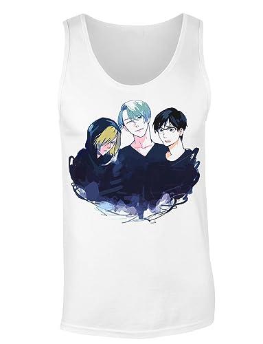 Victor Nikiforov, Yuuri Katsuki And Yuri Plisetsky Camiseta sin mangas para mujer Shirt