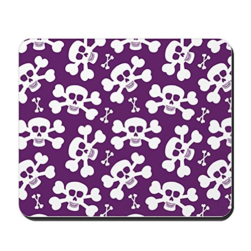 CafePress - Halloween Skull Pattern Mousepad - Non-Slip Rubber Mousepad, Gaming Mouse Pad ()