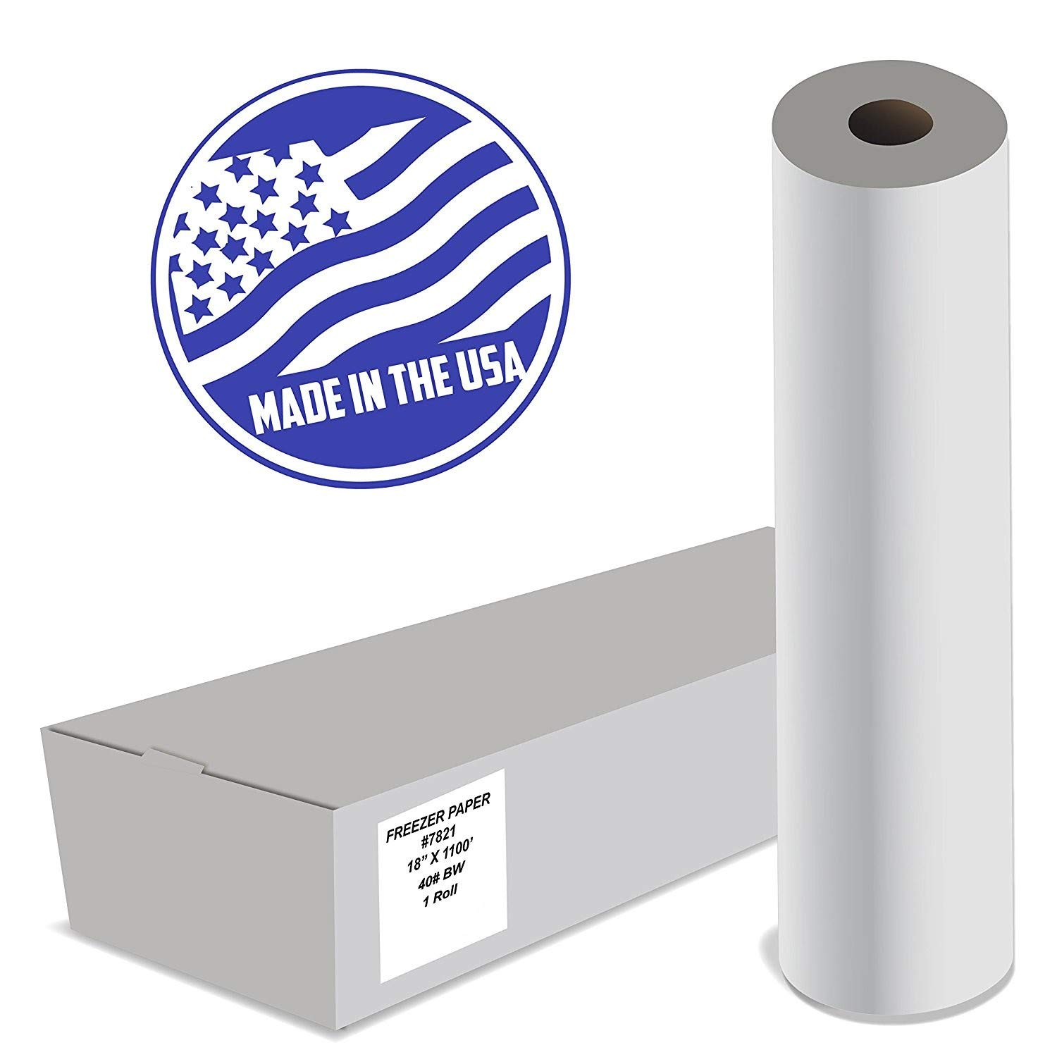 Impreso White Butcher Paper, 24'' x 1000' Roll, FDA Approved, 40# Kraft - All Natural FDA Approved Food Grade BBQ Meat Smoking Paper - 1 Roll - Made In The USA