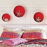 BrylaneHome Rosie Round Wall Shelves (Strawberry,0)