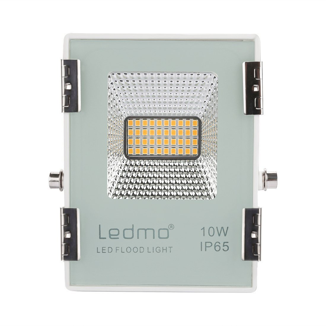 LEDMO faro led esterno 10W 2700k bianco caldo,alta luminosità 900lm impermeabile IP65 faretto led esterno per giardino, recinzione, patio, SMD2835 AC200-240V [Classe di efficienza energetica A+] Yuyinglamp
