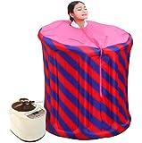 Sauna a vapore portatile rosa/blu gonfiabile