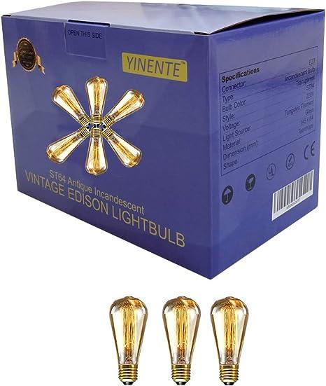 anticuada Edison Vintage bombilla 60/W/ E27/Screw Int/® Pack de 6 /Filamento de Jaula de ardilla