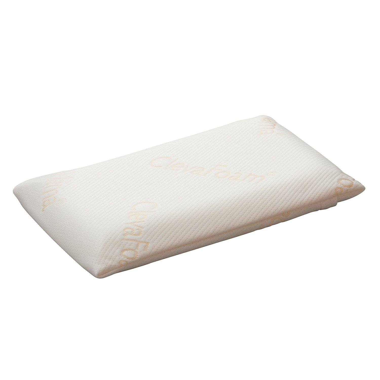 Clevamama Foam Toddler Pillow - Breathable, Hypoallergenic and Prevents Flat Head Syndrome (+12 months)