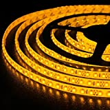 WYZworks Super Bright 3528 YELLOW (AMBER) 5M - 600 LED Flexible Waterproof Strip Light 12V 5M LED Flexible Waterproof Strip Light 12V