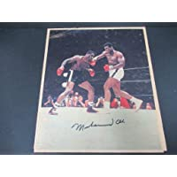 $603 » Muhammad Ali Signed Magazine Page Autograph Auto AH41042 - PSA/DNA Certified - Autographed Boxing Magazines