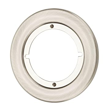 Kwikset 293 15 CP RND TRIM RSE 293 Small Round Escutcheon Plate, Satin  Nickel