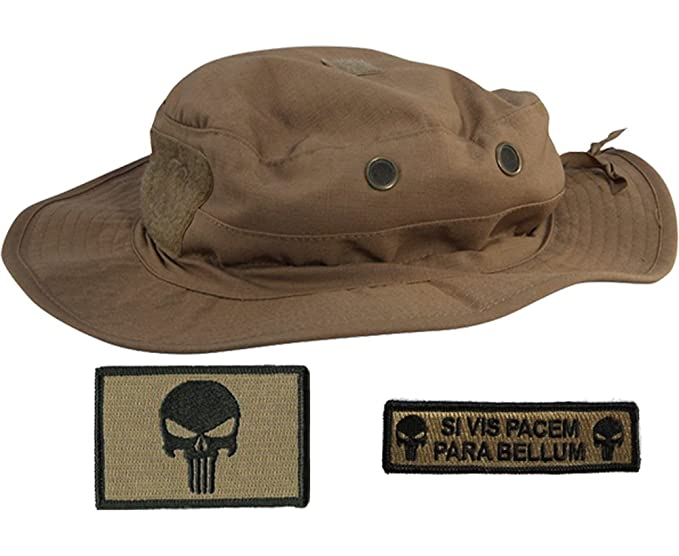 Gadsden and Culpeper Operator Boonie Hat Bundle   Patches - Punisher Coyote 3bcb786c37c