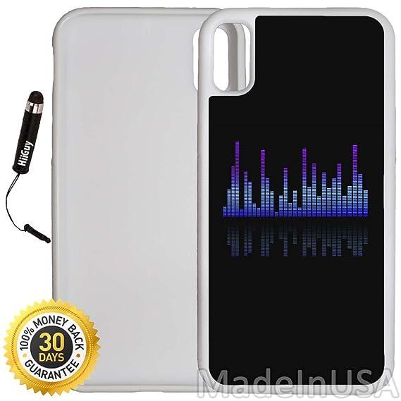 Amazon com: Custom iPhone X Case (Equalizer Music Sound) Edge-to