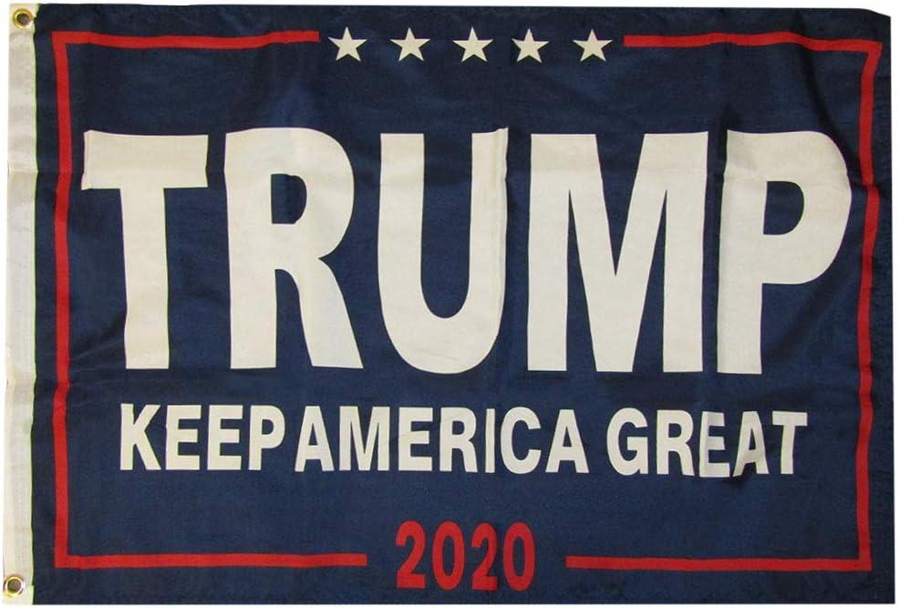 TRUMP 2020 OFFICIAL FLAG 2x3 FT 150D NYLON Grommets PRESIDENT DONALD J