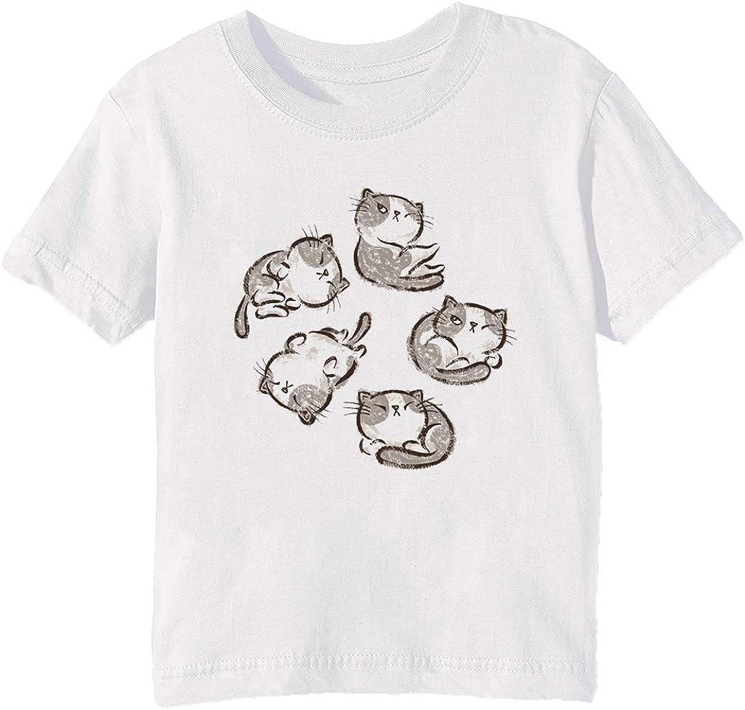 Gatito Gato Relajarse - Gato Niños Unisexo Niño Niña Camiseta ...