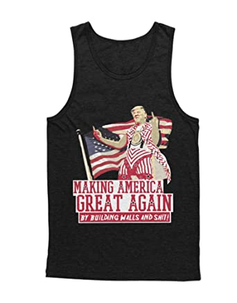 Hypeshirt Tank-Top Donald Trump Making America Great Again - by Building  Walls and Shit! D123457: Amazon.de: Bekleidung