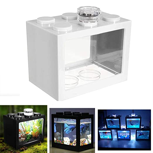 Womdee - Mini Tanque de Peces LED para Acuario, Caja de Reptiles ...