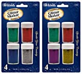 Bazic 8g/0.28 oz. 4 Primary Color Glitter Shaker 144 pcs sku# 1766753MA