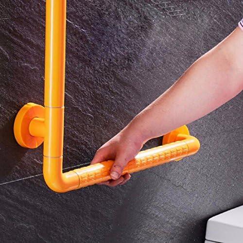 浴室用手すり バスルームの滑り止め手すりにシャワーを浴びたトイレの壁にお年寄りの障害者無障害L型の手すり,白,50 * 70