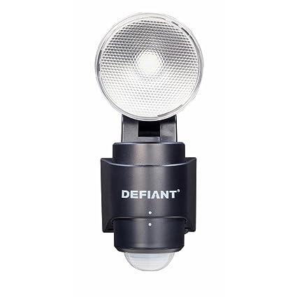 180-Degree 1-Head Outdoor Black LED Battery Power Flood Light