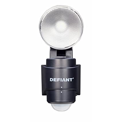 180-Degree 1-Head Outdoor Black LED Battery Power Flood Light - - Amazon.com
