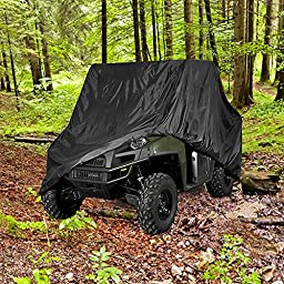 NEH® HEAVY DUTY WATERPROOF SUPERIOR UTV SIDE BY SIDE COVER COVERS FITS UP TO 120\'L W/ ROLL CAGE BLACK COLOR ATV COVER RHINO RANGER MULE GATOR PROWLER YAMAHA PROWLER RANCHER FOREMAN FOURTRAX RECON 4x4
