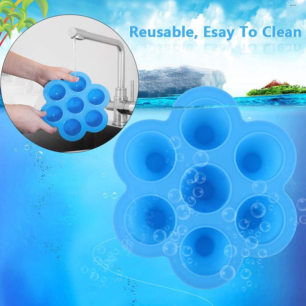 Lila /& Blau 100/% BPA-freie und FDA-Zertifizierung Mit L/öffel und Regal Tiefk/ühlbeh/älter f/ür Babynahrung Zeattain Silikon Babynahrung Aufbewahrung Beh/älter