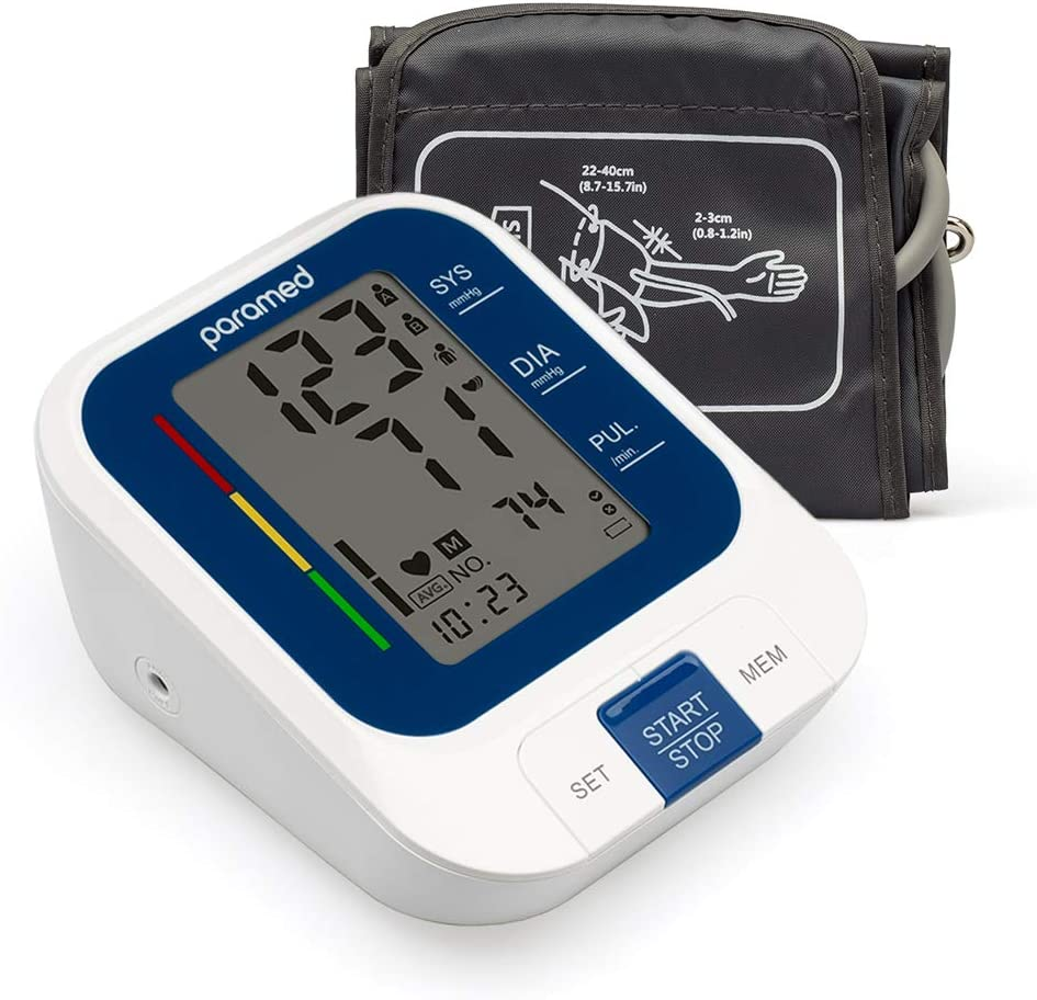 PARAMED Blood Pressure Monitor: Automatic Upper Arm BP Monitor with Cuff 8.7