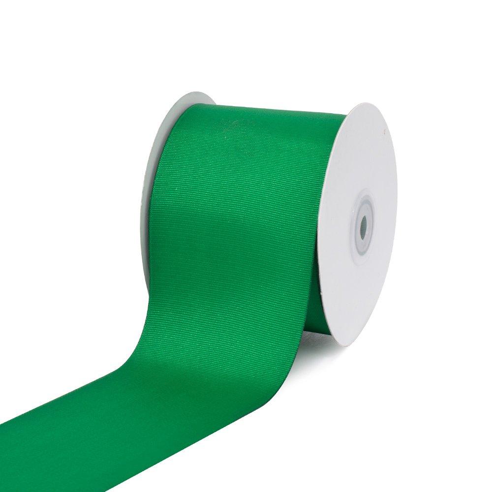 Creative Ideas 3'' Solid Grosgrain Ribbon, 25 yd, Emerald Green by Creative Ideas