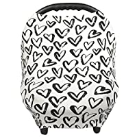 Breastfeeding Cover – Nursing Cover scarf - Infant Car Seat Canopy, Shopping Cart, Stroller, Carseat Covers for Girls and Boys - Hearts - Love