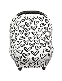 Breastfeeding Cover – Nursing Cover scarf - Infant Car Seat Canopy, Shopping Cart, Stroller, Carseat Covers for Girls and Boys - Hearts - Love BOBEBE Online Baby Store From New York to Miami and Los Angeles