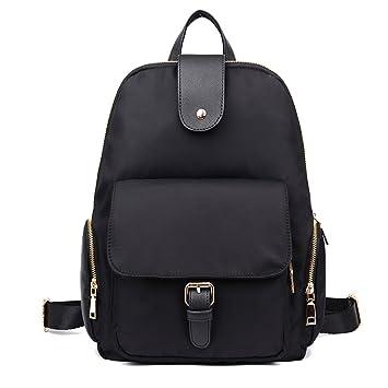 5dd7b9b1bd Oxford Cloth Shoulder Bag Ladies Mifi Nylon Fashion Simple Small Backpack  Canvas Leisure Travel Tide ( Color   Black )  Amazon.co.uk  Baby