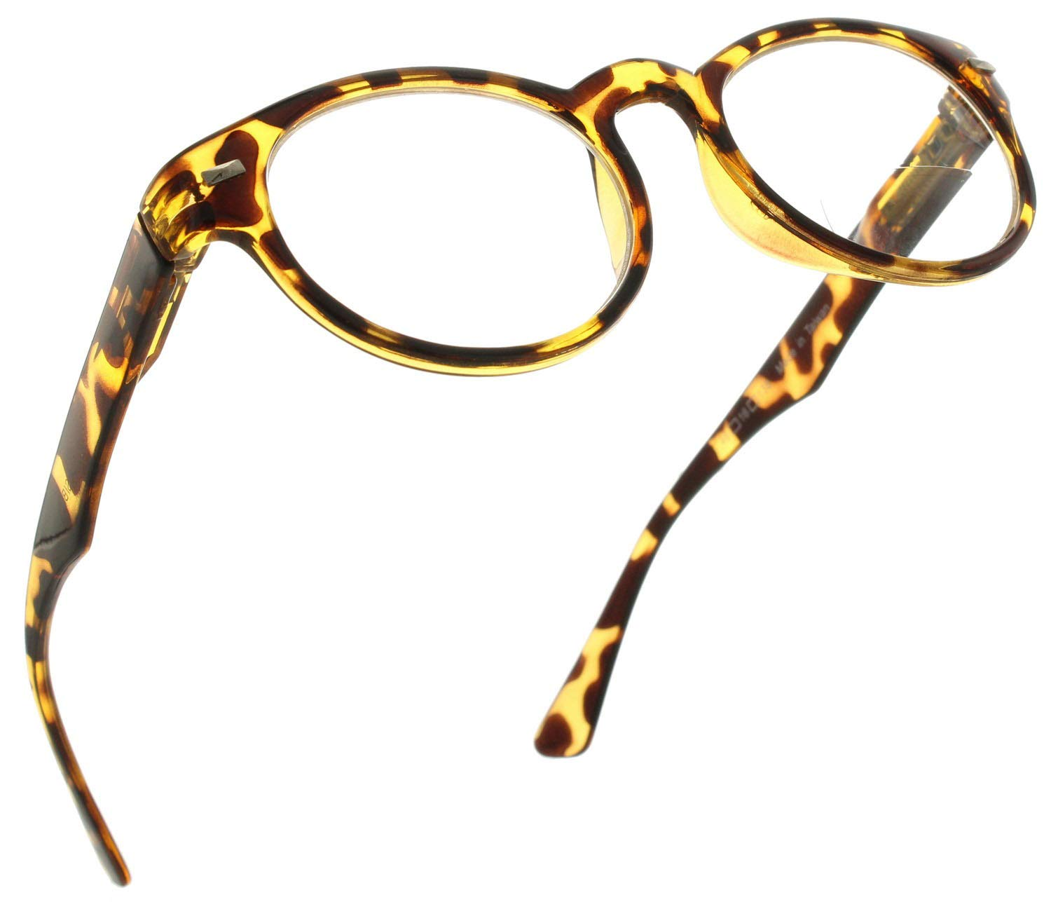 7ea77f75a83 Amazon.com  Bifocal Round Reading Glasses Vintage Style Readers for Men and  Women  Gold Tortoise
