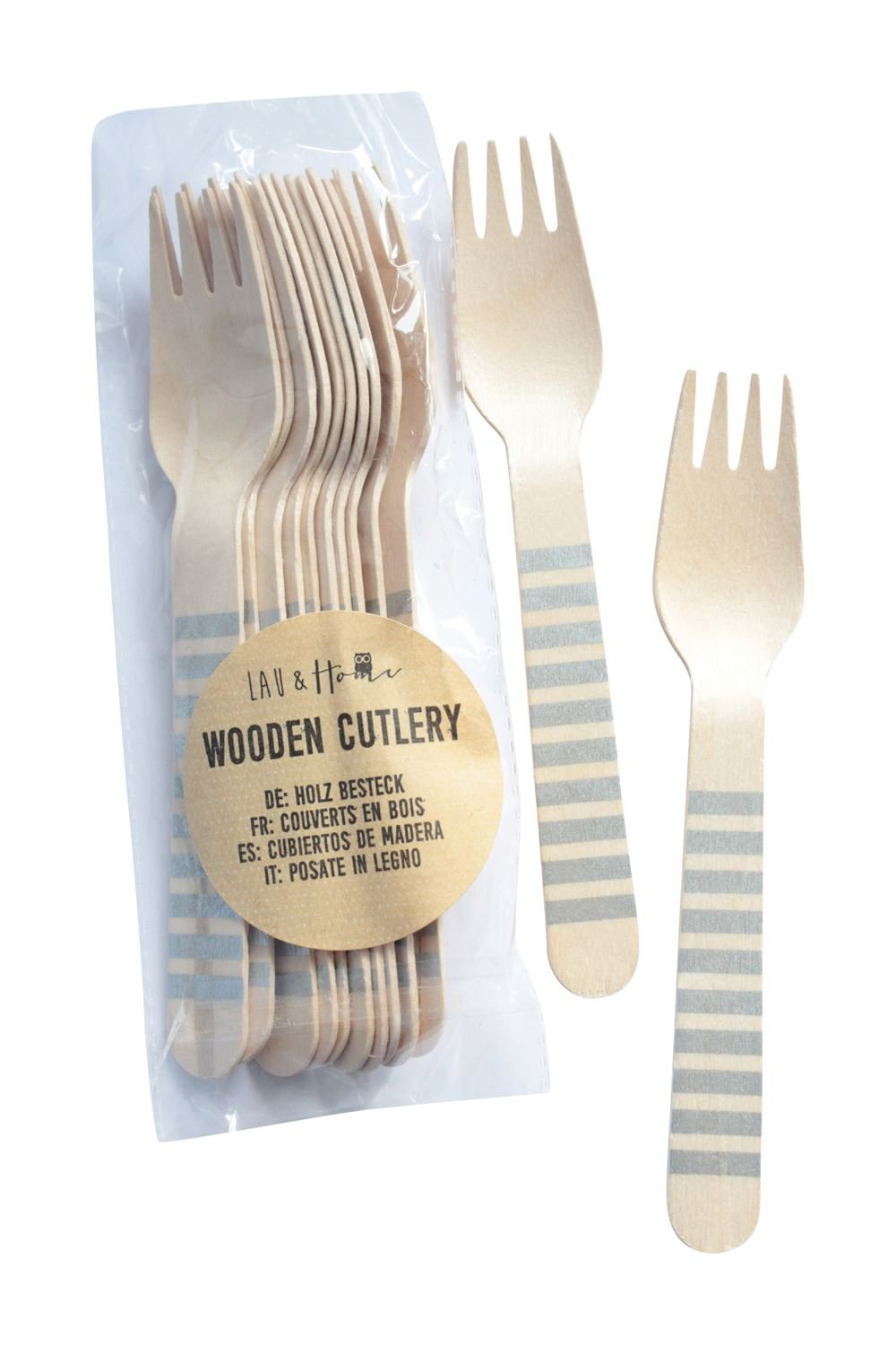 Amazon.com: Wooden Disposable Forks Lines - Aqua 1 Pack (12 pieces): Kitchen & Dining