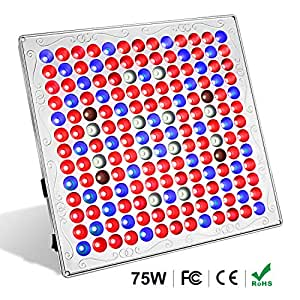 Led Grow Lights for Indoor Plants, TOPLANET 75w Full Spectrum Light Plant  Hanging Grow Light with IR Red Blue Bulbs Grow Lamps Kit for Greenhouse  Grow