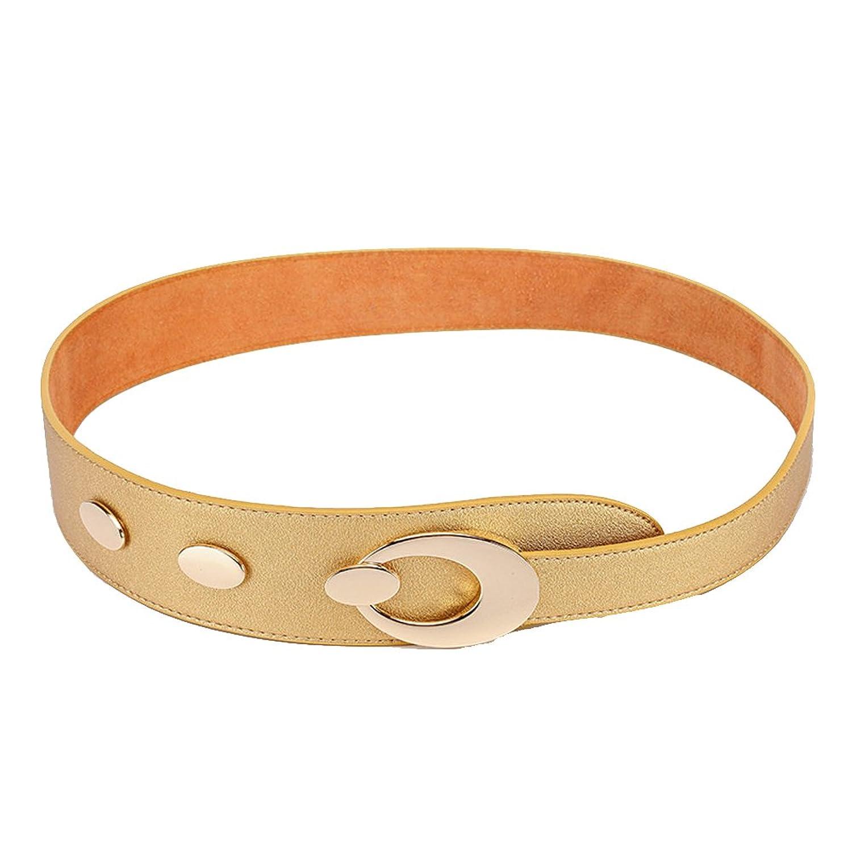 Deercon Lady Elastic Stretch Wide Waist Belt Waistband Cummerbund(3 colors)