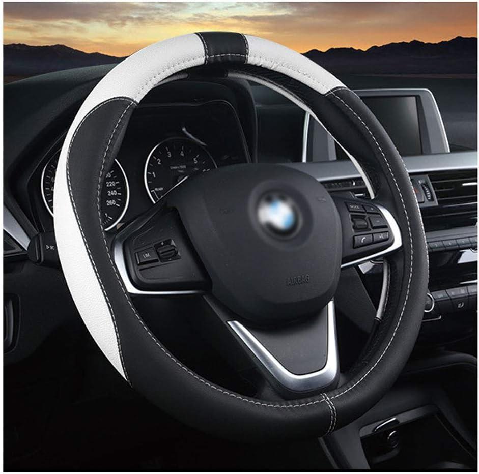 Truck//SUV//Auto//Coprivolante per Auto,Black,36cm Odore Gratuito YYD Coprivolante in Pelle Microfibra 36-42 cm Soft Comfort Anti Slip Traspirante
