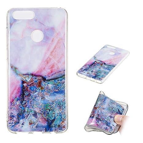 Yunbaozi Funda Mármol Huawei Honor 7X Carcasa Suave Silicona Marble Case IMD Piedra Anti-Rasguños Anti-Huella Digital Patrón Geometric Granito, Mármol ...