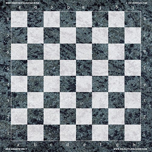 Granite No. 1 - Full Color Vinyl Chess Board by Wild Style Boards