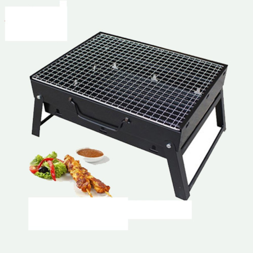 Nclon Barbecue grill Charcoal smoker Smoker Charcoal grill,Folding Portable Bbq Portable grill Lightweight Outdoor Picnicking Camping Travel Beach 3-5 People-small 35276cm