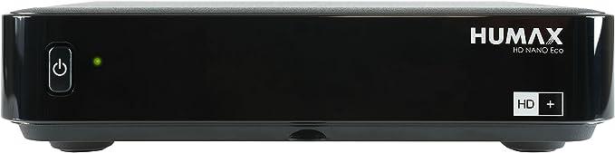 Humax digital HD de Nano Eco–Receptor satélite (HDTV, USB, PVR de función, bajo Consumo, Incluye Tarjeta HD + para 6Meses), Color Negro