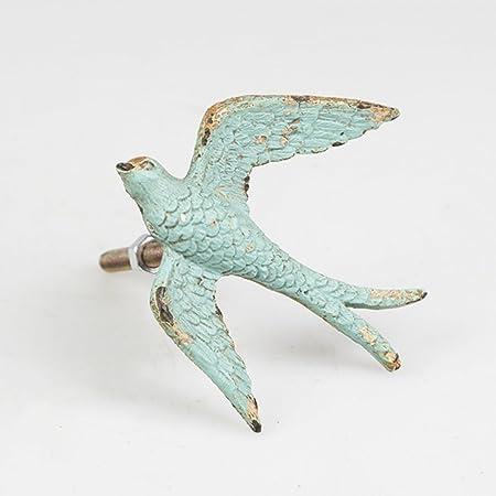 Vintage Chic Flying Swallow Drawer Handle Bird Cupboard Knob Door ...