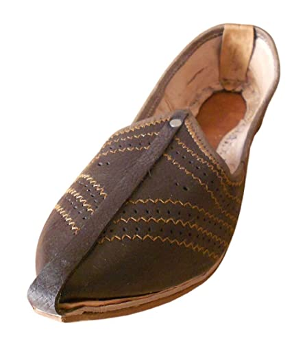 Kalra Creationsus Indian Men Shoes Leather Casual Flip-Flops Handmade Mojaries