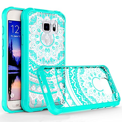 S7 Active Case,Galaxy S7 Active Case Clear, [Not Fit Galaxy S7]AnoKe [Scratch Resistant] Mandala Cute Women Girl Ultra Thin Slim Fit TPU Protective Phone Cover For Samsung Galaxy S7 Active TM Mint