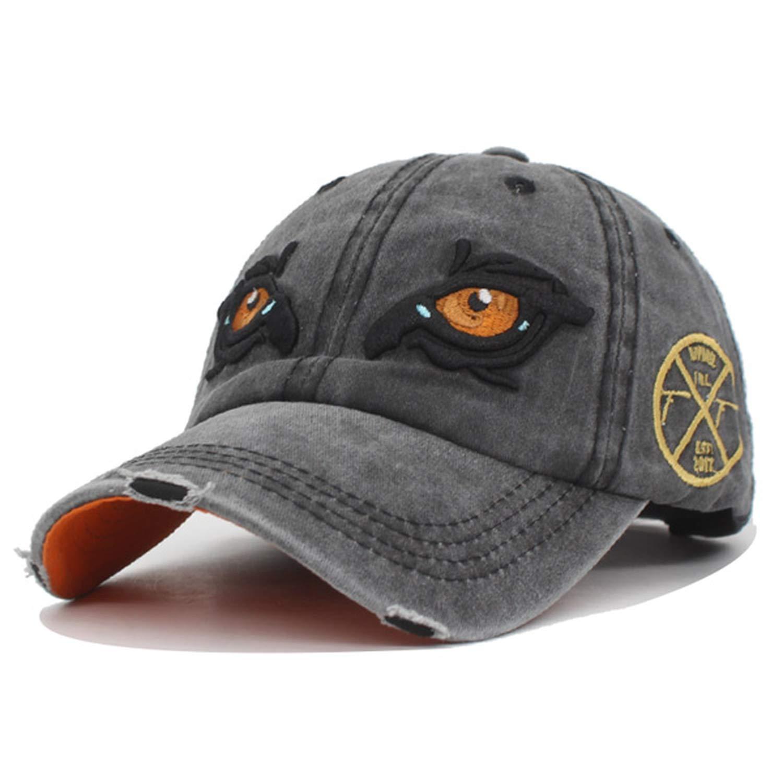 03e270f6b23 Amazon.com  FUZE Baseball Cap Men Women Hats Caps for Men Snapback Retro  Washed Hat Cap Black  Clothing