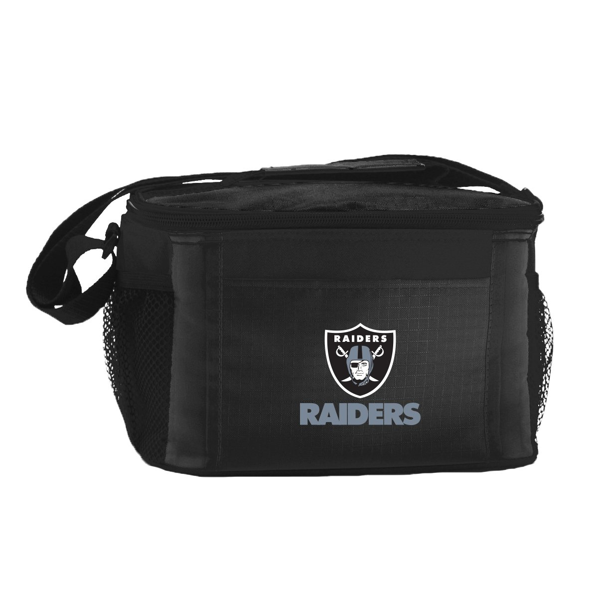Kolder NFL Oakland Raiders Insulated Lunch Cooler Bag with Zipper Closure, Black 086867899001
