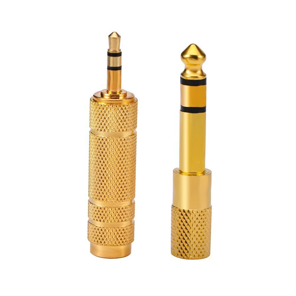 Wpeng 2 Pack 6.35mm 1/4' Male to 3.5mm 1/8' Female Adapter Stereo Adapter, Gold Plated 3.5mm 1/8' Male to 6.35mm 1/4' Female Stereo Jack Adapter Gold Plated 3.5mm 1/8 Male to 6.35mm 1/4 Female Stereo Jack Adapter 4330110723