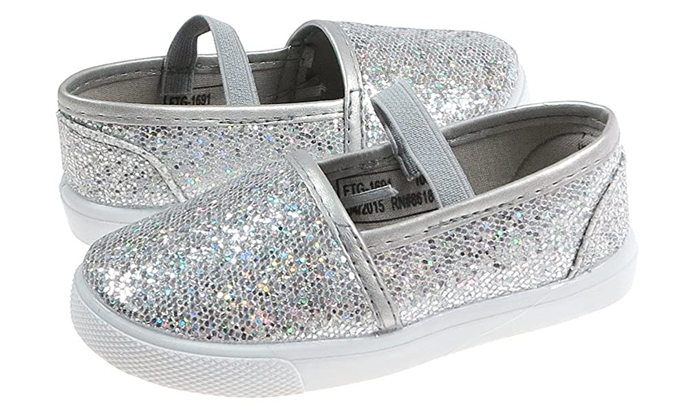 Capelli New York Toddler Girls Glitter Dot Faux Leather Mary Jane Flat FTG-1691
