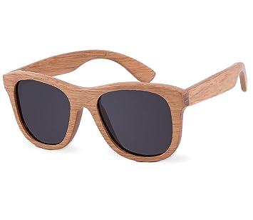 7ac509b147647 UNISEX Lunettes de soleil Bois Brillantstyle rétro avec verres ronds et  charnière à ressort Wooden Sunglasses
