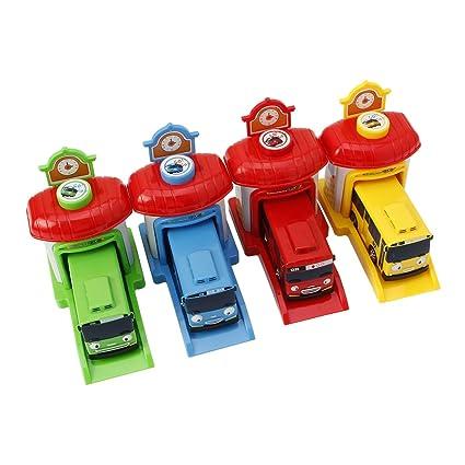 Amazon Com Dabixx Car Toys 4pieces Shooting Garage Car Model Toy