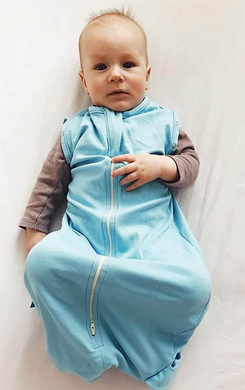Super f/ür Babys die oft wach werden Wallaboo Baby Schlafsack Farbe: Azul 3 6 kg 3 Monaten Ma/ße S: 0 Passend auch f/ür alle Babyschale Der idealer erster P/ücksack f/ür Ihre Kleinen 100/% Baumwolle